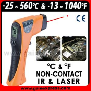laser non infrared thermometer 25 560 degree celsius fahrenheit