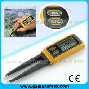 tweezers digital capacitance multimeter meter r c smd
