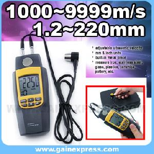 ultrasonic meter measure velocity metal glass