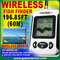 wireless portable dot matrix fish finder sonar radio