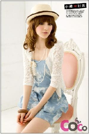 japan fashion lace zipper jacket