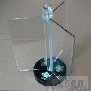 acrylic display stand menu holder revolving