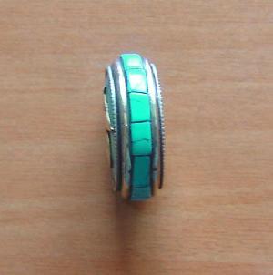 tibetan silver turquoise om mani padme hum amulet