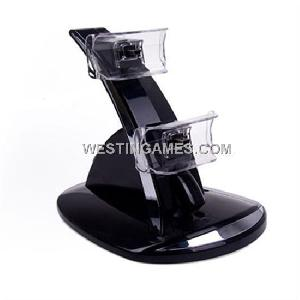 dual controller stand charging sony playstation 3 ps3 wireless joypad