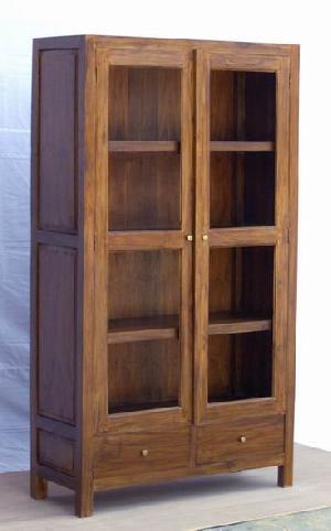 cabinet glass doors andana artwood teak mahogany wooden indoor furniture