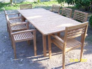 jogja stacking chair rectangular extension table teak garden outdoor furniture