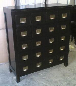 mahogany cabinet buffet 20 twenty drawers kiln dry wooden indoor furniture java