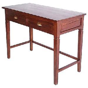 study desk table minimalist solid wooden mahogany teak indoor furniture kiln dry