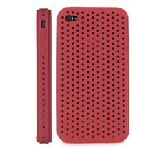 ventilated silicone case cover iphone 4 adn