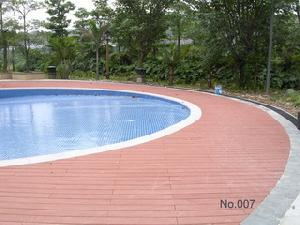 wood plastic composite decking floor