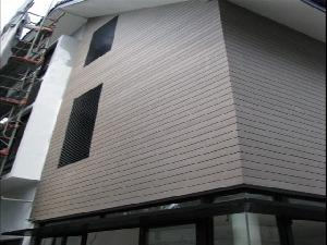 wood plastic composite exterior wall building