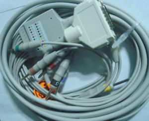 fukuda denshi ecg ekg cable 10 leads fx3010 2111 fx2111 3010 fx4010 fcp