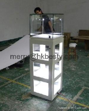 upright display showcase led lightings