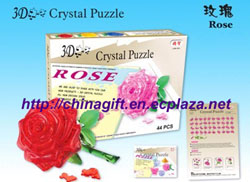 3d crystal puzzles rose