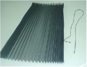 square hole pleated insect screen