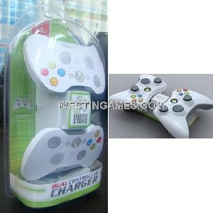 dual controller charger xbox 360 wireless joypad