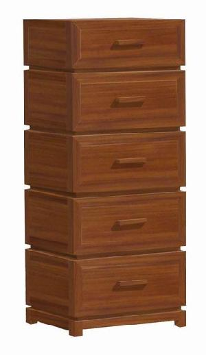 chest five drawers modern minimalist teak mahogany wooden indoor furniture solid