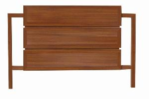 elegance headboard modern minimalist teak mahogany wooden indoor furniture solid