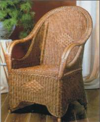 king rattan armchair woven indoor furniture cirebon java indonesia gliss brown