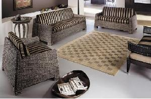 minimalist modern woven sofa living european waterhyacinth gliss brown java indonesia