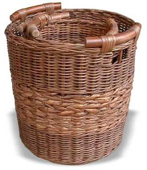 round laundry basket rattan woven indoor furniture java indonesia