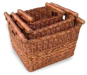 square laundry basket rattan woven indoor furniture java indonesia