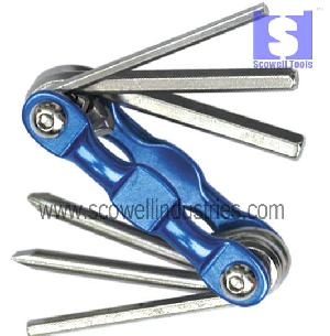 foldable hex key screwdrivers