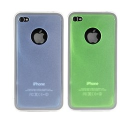 hard plastic case cover iphone blue green