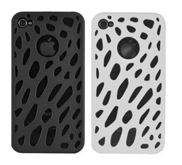 luxe hole hard plastic case cover iphone 4