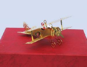 christmas decorating plane ornament