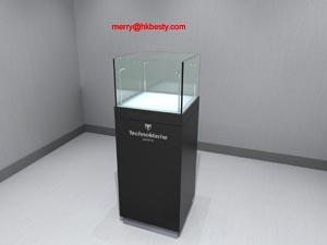 square tower pedestal display case