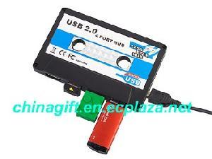 usb cassette 4 port hub