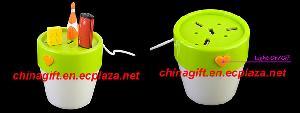 usb flower pot 4 port hub light