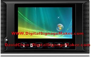 9inch touch icon advertising player pop pos media lcd display digital