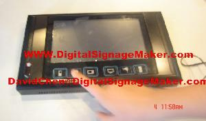 9inch touch icon lcd advertising screens monitor pop pos digital