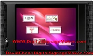 touch screen lcd digital signage player instore advertising pop pos display