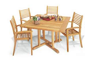 denver teak square dining teka wooden garden outdoor furniture