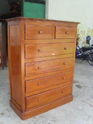 jogja cabinet six drawers teak mahogany wooden indoor furniture solid kiln dry wood