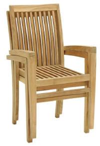 surabaya straight stacking dining chair teak teka wooden garden outdoor furniture