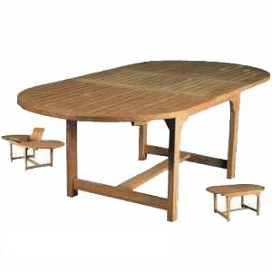 teak bali oval extension table teka wooden outdoor garden furniture