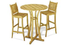 teak outdoor round bar teka wooden garden furniture