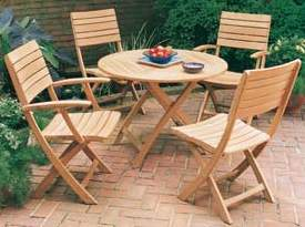 teka simply round folding curve teak wooden garden outdoor furniture
