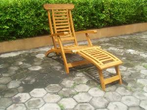teka sun lounger steamer five position chair teak outdoor garden furniture