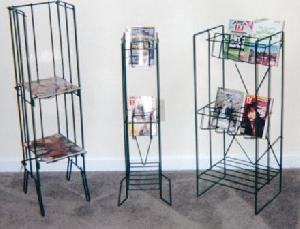 magazine newspaper wire rack