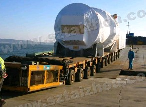 logistic concrete mixing station pipe discharging car