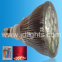 par38 rgb dimmable spot light 12w
