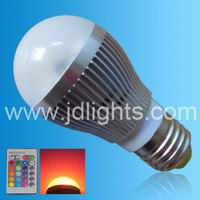 rgb dimmable bulb 3w spot light