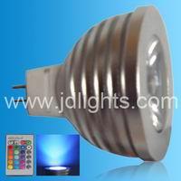 rgb dimmable mr16 spot light 3w