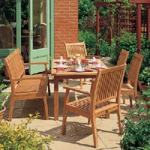 Patio Terrace Teak Garden Benches In Set Teka Outdoor Wooden