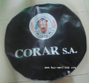 advertising pvc car tire cover